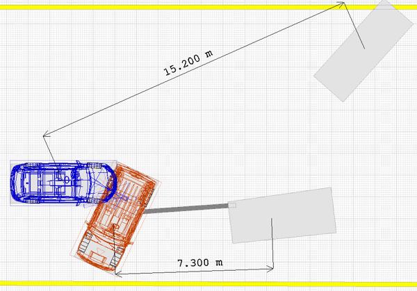 Нарисовав масштабную схему ДТП