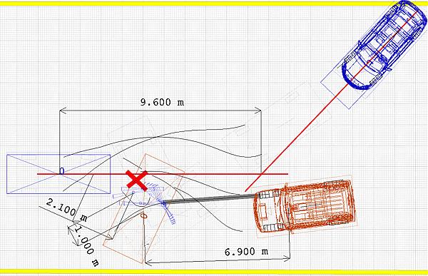 на схеме ДТП следу колеса.